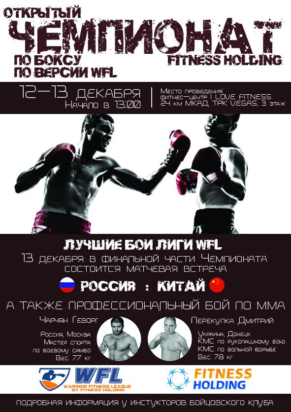 Открытый Чемпионат FITNESS HOLDING по боксу по версии WFL 2015 (1)