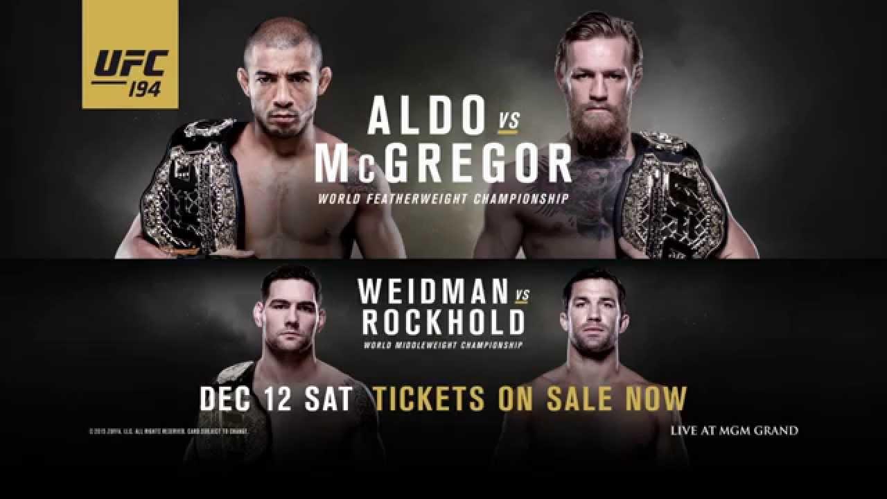 Прямая трансляция UFC 194: Aldo vs. McGregor: Жозе Алду - Конор Макгрегор (1)