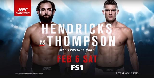 Прямая трансляция UFC Fight Night 82: Джони Хендрикс - Стивен Томпсон (1)