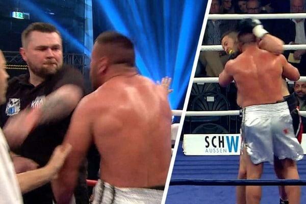 """Скандал в Мюнхене: Как австрийский """"тигр"""" покусал боксера на ринге (1)"""