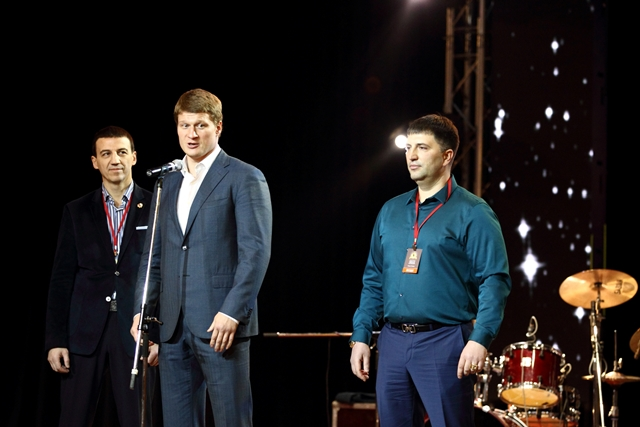Александр Колесников, Александр Поветкин и Павел Попов