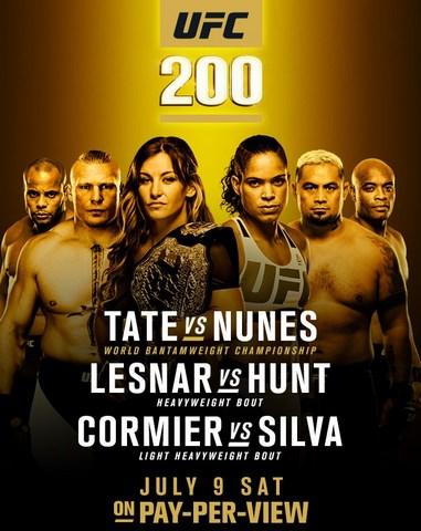Прямая трансляция UFC 200: Миша Тейт - Аманда Нуньес, Брок Леснар - Марк Хант (1)