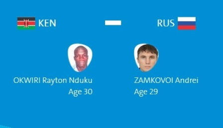 Андрей Замковой проиграл кенийцу Рейтону Ндуку Оквири— Олимпиада вРио