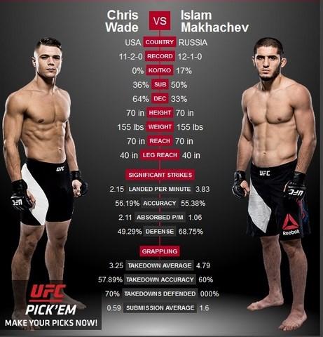 Прямая трансляция UFC Fight Night 94: Ислам Махачев - Крис Уэйд, Дастин Порье - Майкл Джонсон (1)