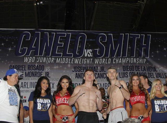 Сауль Альварес и Лиам Смит показали одинаковый вес (2)