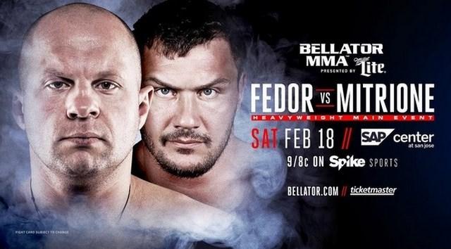 Федор Емельяненко встретится на турнире Bellator 171 с американцем Мэттом Митрионом  (1)