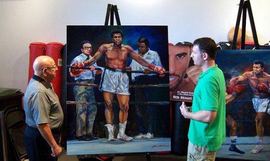 Джейс МакТир - художник, влюбленный в бокс (2)