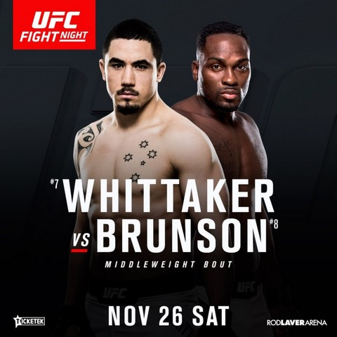 Прямая трансляция UFC Fight Night 101: Роберт Уиттакер - Дерек Брансон,  Омари Ахмедов - Кайл Нок (1)