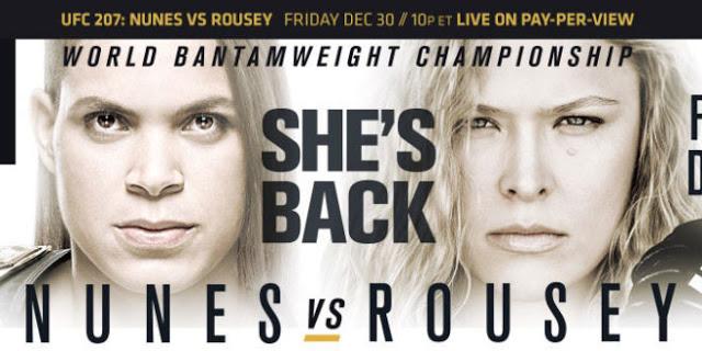 Прямая трансляция UFC 207: Аманда Нуньес - Ронда Роузи (1)