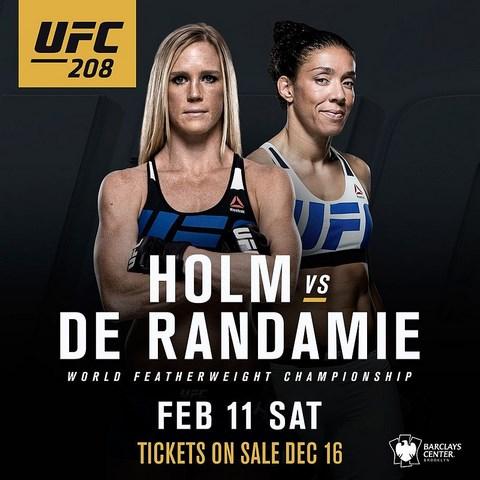Прямая трансляция UFC 208: Холи Холм - Жермейн Де Рандеми (1)