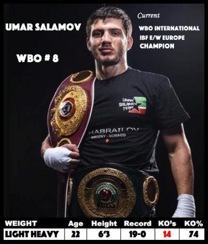 Умар Саламов будет боксировать в андеркарте Мэнни Пакьяо - Джефф Хорн (1)