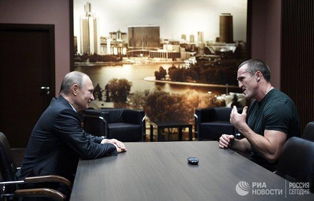 Владимир Путин и Денис Лебедев
