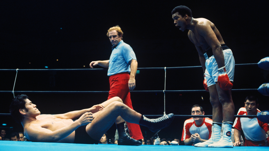 Muhammad Ali Fighting Antonio Inoki